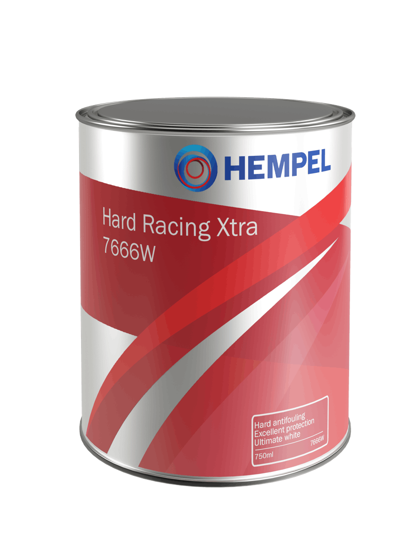 HEMPEL Hard Racing Xtra Antifoul.maali 750ml WHITE