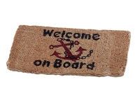 "MATTO ""WELCOME ON BOARD"" 25 x 50 cm."